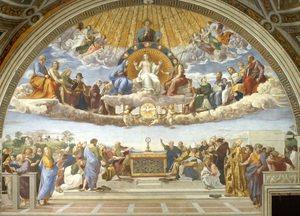 Disputation of the Holy Sacrament (La Disputa), Raphael